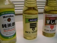 Rice vinegar and sushi seasoning