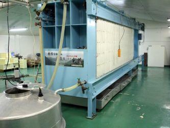 Assaku-ki Shibori (machine pressing)