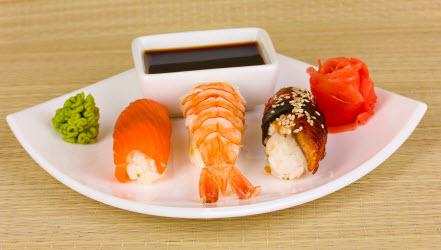 Ceramic sushi plate