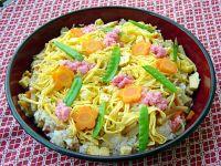 Colorful and easy to make Chirashi Sushi