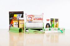 Sushiquik sushi making kit with ingredients and supplies