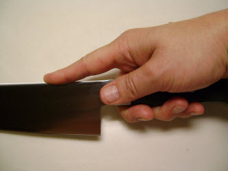 How to hold a Yanagiba or Sashimi knife