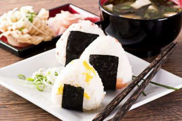 Onigiri (rice ball) wrapped in nori