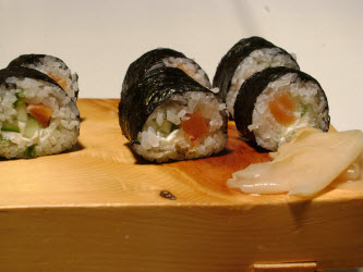 Philadelphia Roll on sushi plate
