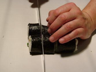 Slice these remaining pieces in half one more time to make 8 pieces