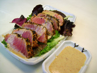 Seared Ahi Tuna with Ginger Soy Dipping Sauce