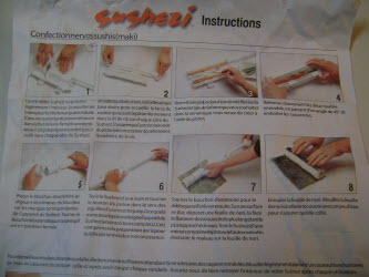 Sushezi instruction sheet