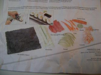 Sushezi instruction sheet