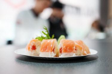 Beautiful Sushi in Sushi Restaurant