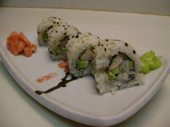 Perfect California Roll made withe the Sushi Magic mat
