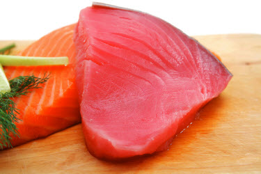 Sushi grade fish or sashimi grade fish