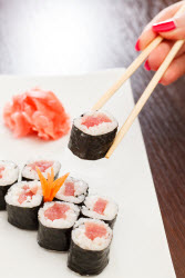 Tuna roll ('tekka maki')