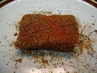 Tuna rubbed with seared ahi tuna seasoning