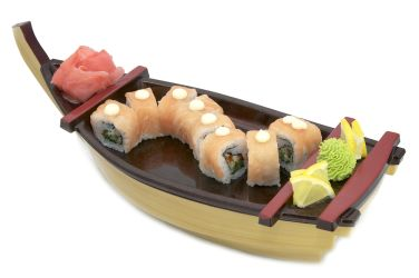 Bamboo and plastic Sushi boat
