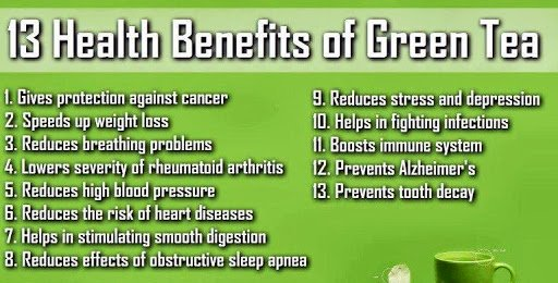 13 benefits of green tea