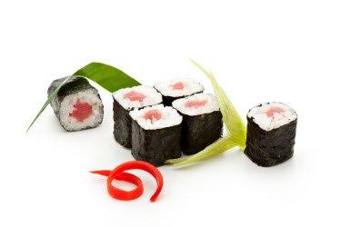 Tuna Roll or Tekka Maki Hosomaki roll (