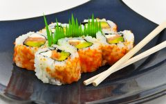 California roll otherwise generally known as a uramaki roll.