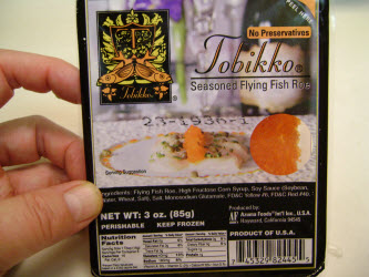 Tobikko flying fish roe package