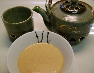 Ginger Soy Sauce and Japanese tea pot and cup