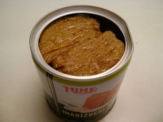 Inarizushi-no-moto with top off in a can