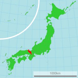 Kyoto Prefecture highlighted in red