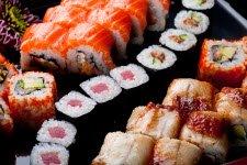Different kinds of maki rolls