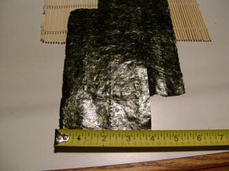 4 x 7 inch nori sheets
