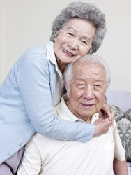Old Japanese couple