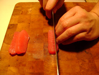 Making matchsticks out of tuna