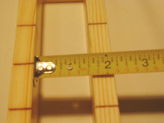 Measuring inside of oshibako that it is 1 and 1/2 inches wide