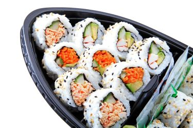 Is this Supermaket grocery store sushi in plastic sushi boat safe to eat?
