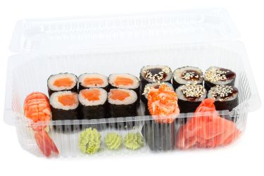 Is this Supermaket grocery store sushi in plastic see through container Safe to Eat?