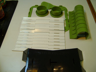 Pieces of the sushiquik sushi making kit laid out