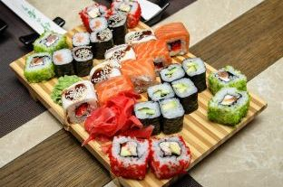 Different kinds of Maki sushi