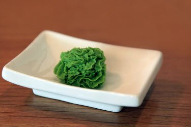 Wasabi on serving dish