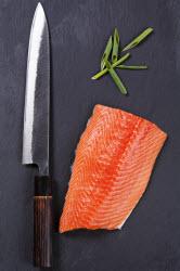 Yanagiba and salmon